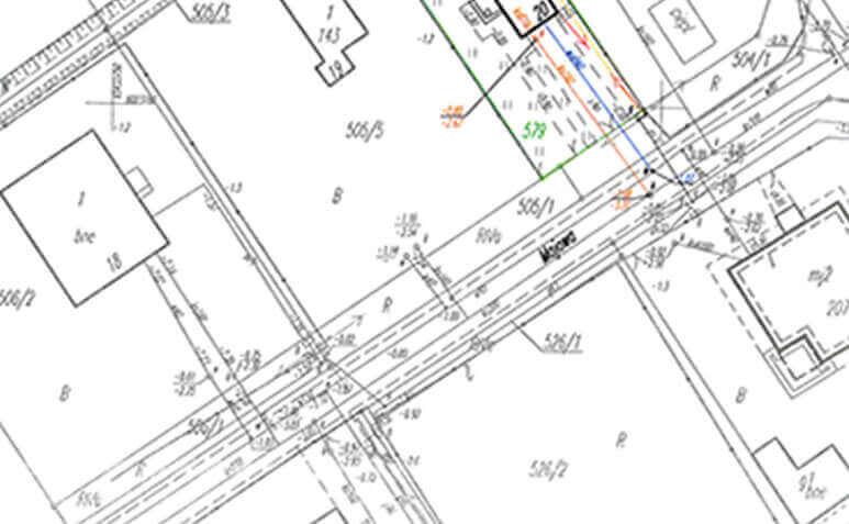 Map Geo podział geodezyjny nieruchomości rolnej, leśnej, budowlanej Pruszcz Gdański projekt